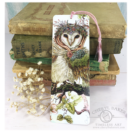 Stunning Woodland Owl Art Bookmark