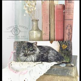 Celtic Cat Art Bookmark