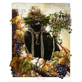 Majestic Crow for Kitchen Wall Decor