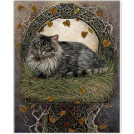 Beautiful Celtic Cat Art