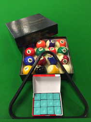 "2"" Package - Balls, Triangle and box of chalk $45.00 Green Chalk"