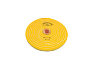 """Knife Edge Treated Wheels W/Leather Centers 6"""" X 12 Ply Pin Hole-12 Rows Stitched (pack of 1)"""