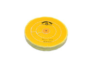 """Yellow Buffs W/Shellac Center 5"""" x 45 Ply 3 Rows Of Stitching For Tapered Spindle (pack of 12)"""