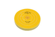 """Yellow Buffs W/Shellac Center 6"""" x 50 Ply 4 Rows Of Stitching For Tapered Spindle (pack of 12)"""