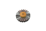 "Straight Steel Wire Brush, 3 Rows of Wire, 3"" Diameter"