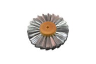"Straight Steel Wire Brush, 3 Rows of Wire, 4"" Diameter"