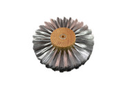 "Straight Steel Wire Brush, 6 Rows of Wire, 6"" Diameter"