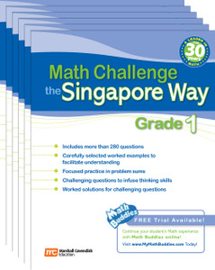 Math Challenge the Singapore Way Grade 1 (6 Pack)