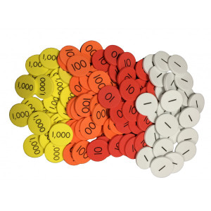 4-Value Whole Number Place Value Discs Set