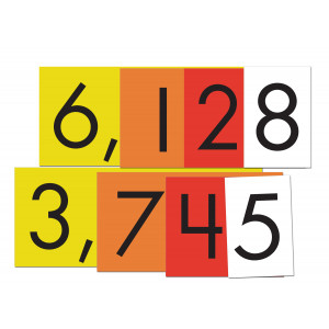 4-Value Whole Number Place Value Cards Set