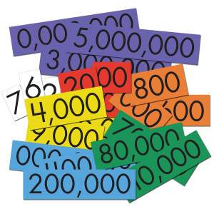 7-Value Whole Number Place Value Cards Set