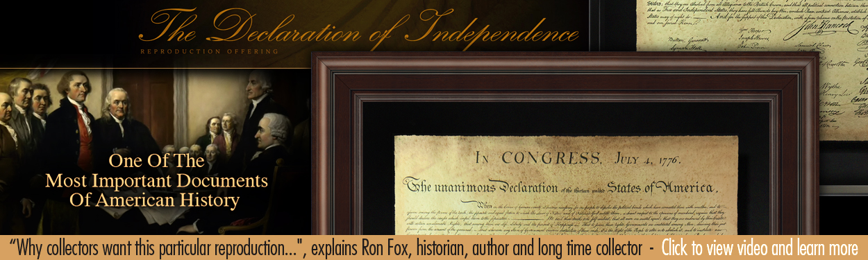 The High Quality Declaration of Independence Reproduction