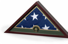 USA and Military Emblem Memorial Case