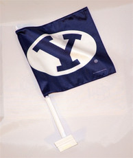 "11 1/2""x14"" Polyester - BYU Mini Car Flag"
