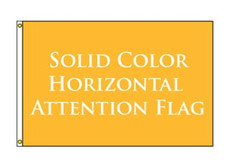 Solid Color Horizontal Attention Flag