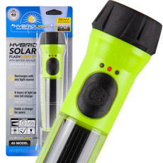 48 ea. Green Hybrid Solar Flashlight with Battery Backup
