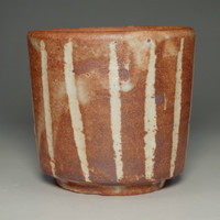 sale: Yunomi by Rosanjin / Pottery cup in shino ware