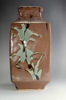 sale: Good designed mashiko pottery flower vase from Japan