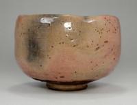 sale:  AKA RAKU CHAWAN Japanese Pottery Tea Bow by Choraku