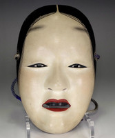 Zo-onna - Japanese lacquered wood woman Noh mask #2719