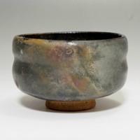 Antique Raku Chawan - Japanese Signed Pottery Tea Bowl #2001