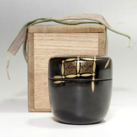 Vintage Natsume - Japanese Lacquered Tea Caddy w/ box #2049