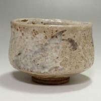 sale: SHINO CHAWAN - Antique Japanese Crackle Glaze Pottery Tea Bowl