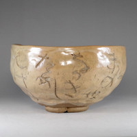 sale: RENGETSU CHAWAN - Kyo pottery tea bowl by Heian Isso #2321