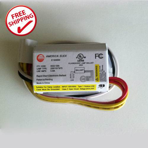 Fluorescent Light No Ballast: 22 Watt Circline Fluorescent Electronic Ballast