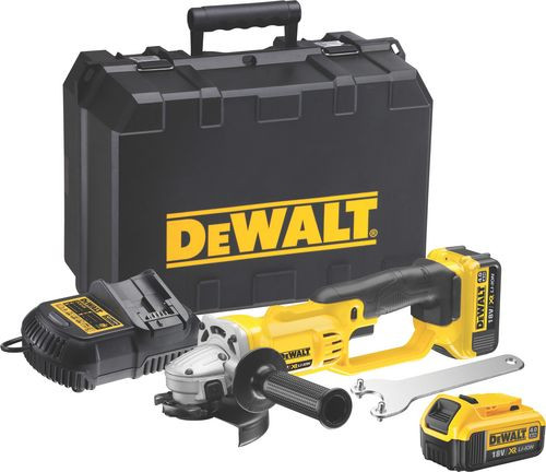 dewalt dcg412m2 18v xr 125mm cordless angle grinder 2 x 4ah batteries mcquillan tools. Black Bedroom Furniture Sets. Home Design Ideas