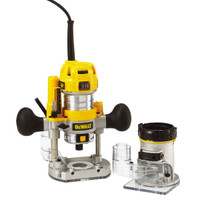 "Dewalt D26204K 900W 8mm ( 1/4"" ) Premium Plunge & Fixed Base Router Combi"