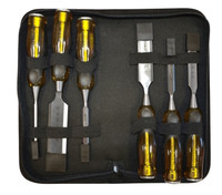 Stanley FatMax 6 Piece Chisel Set with Zipper Wallet