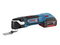 Bosch GOP18VEC1 18v Professional Multi Tool 1 x 4.0Ah Li ion + 8 Acc