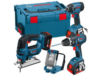 Bosch 0615990FS0 18v 4 Piece Cordless Li-ion Tool Kit 3 x 4.0ah