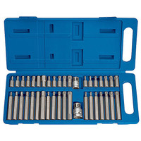 Draper 33323 40 Piece Tx-Star Hexagon and Allen Mechanics Bit Set