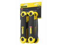 Stanley Hexagon Key Folding Set of 17 Metric Imperial (1.5-8mm 5/64-1/4in)