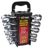 Am-tech K2001 Stubby Combination Wrench Set (10-Piece)