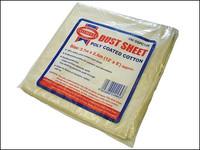 Faithful Cotton Twill Polythene Backed Dust Sheet 12 x 8ft