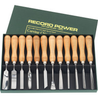 Record Power 12 Piece Carving Chisel Set with Educational Booklet & DVD
