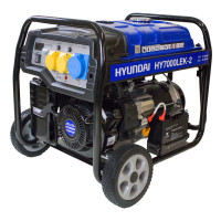 Hyundai 5.5kW / 6.8kVa* Recoil & Electric Start Site Petrol Generator