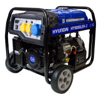 Hyundai 7.5kW / 9.4kVa* Recoil & Electric Start Site Petrol Generator