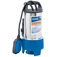 Draper 208L/Min 750W 230V Stainless Steel Submersible Dirty Water Pump With Float Switch