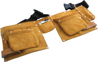 Am-Tech N0900 11 Pocket Heavy Duty Leather Tool Belt
