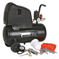 SIP 245/25 Air Compressor With 7 Piece Kit