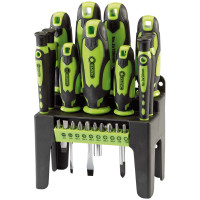 Draper 21 Piece Screwdriver Set (Green) (29876)