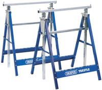Draper Telescopic Saw Horses or Builders Trestles Pair, Blue