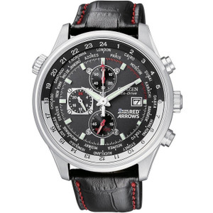 Citizen Red Arrows Leather Strap Chronograph Watch CA0080-03E