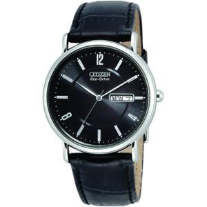 Citizen Eco-Drive Black Leather Strap Men's Watch BM8240-03E