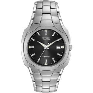 Citizen Titanium Men's Eco-Drive Black Dial Watch BM6560-54H