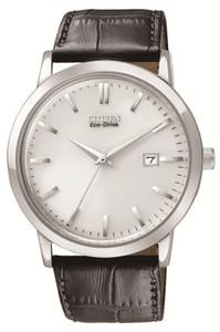 Citizen Eco-drive Black Leather Strap Men's Watch BM7190-05A